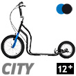 City II Scooter 12+ - BLACK/BLUE Yedoo