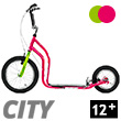 City II Scooter 12+ - MAGENTA/GREEN Yedoo