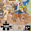 Puzzle Fortified Castle 100 pieces + poster Djeco