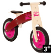 Pink and Burgundy Wooden Balance Bike Bikloon