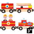 Story Train Firefighters Wooden train Janod