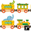 Story Train Safari Train en bois Janod