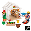 Gardener's Greenhouse (49 pieces and two dolls) Goki