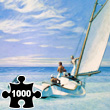 Puzzle 1000 pieces : Edward Hopper : Ground Swell Piatnik
