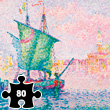 The Pink Cloud - Signac - Wooden Art Puzzle - 80 pieces