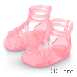 Transparent Pink Spartan Sandals for dolls Les Chéries Corolle