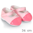 Pink polished shoes for 36cm doll - Mademoiselle Corolle