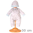 Grey Star Pajamas & Hat for 30cm doll