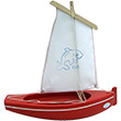 Tuna boat ref. 204 Red boat/White sail