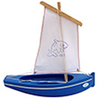 Tuna boat ref. 204 Blue boat/White sail
