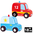 Story Set City - Police Car and Firefighter Car