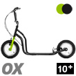 OX II Fun Scooter for teens/adults - BLACK/GREEN Yedoo