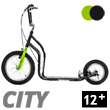 City II Scooter 12+ - BLACK/GREEN Yedoo