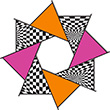 F-Stop Hot Op-art (20 inches) Premier Kites & Designs