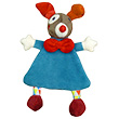 Doudou plat Clown Gustave bleu - Magic Circus Ebulobo