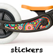 Stickers for Recycled Edition Wishbone Bike Paisley