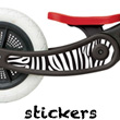 Stickers for Recycled Edition Wishbone Bike Zebra