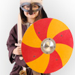 Viking Shield red and yellow - Accessory for kids