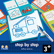 Step by Step Arthur and Co - Éduludo - Learn to draw Djeco