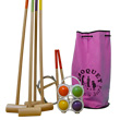 Croquet game, 4 players, pink bag