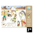 Magic plastic characters Western Design By Djeco