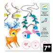 Magic plastic Fawn and Bird Jewels Design By