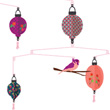 Chinese Lanterns Mobile - Kids Room Deco