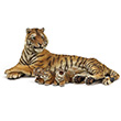 Lying tigress nursing - Wild Animals Figurine