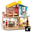 Color House - Wooden Dollhouse WITH FURNITURE Djeco