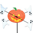 Outdoor WhirliGig Spinner Pumpkin & Ghosts
