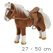 Brown Horse with saddle and headstall - Götz Doll Plush Götz Dolls