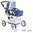 Doll Pram - White and Blue - Doll accessories - Götz Boutique
