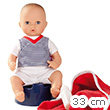 Bathbaby Boy Aquini 33 cm with potty and accessories Götz Dolls