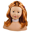 Götz Styling Head, 58 pieces, red, brown eyes Götz Dolls