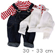 Dungarees Set - Clothes for dolls 30-33 cm Götz Dolls