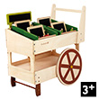 Organic Fruit and Veg Wooden Cart
