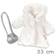 White coat & silver bag for dolls Les Chéries Corolle