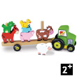 Tractor and Trailer with animals - Stacking Game - Empil'Animo Vilac