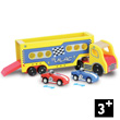 Articulated Lorry with 2 friction cars - Wooden Toy