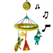 Walter Dragon musical mobile - Tales Lilliputiens
