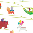 Paper mobile Carnival of animals - Little Big Room Little Big Room by Djeco