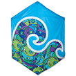 Rokkaku Kite Cool Orbit Rays 160x168cm Premier Kites & Designs