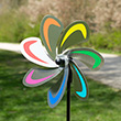Flower Curve Rainbow - Garden Windmill Ø20cm Colours in Motion