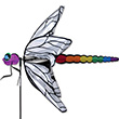 Large Dragonfly Flying Spinner 100cm Garden Deco