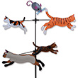Carousel Spinner Cats - Garden Decor Premier Kites & Designs