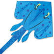 Blue Jumbo Stingray Single-line Kite 178x340cm Premier Kites & Designs