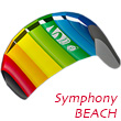 HQ Symphony Beach III - 2-line Power Kite 1.3 - Rainbow