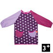 Artist Apron - Plum with white dots
