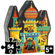 Silhouette puzzle Fortified castle (54 pieces) Djeco