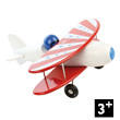 White biplane - Wooden Toy